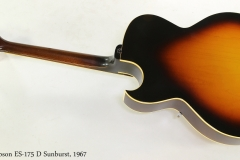 Gibson ES-175 D Sunburst, 1967   Full Rear View