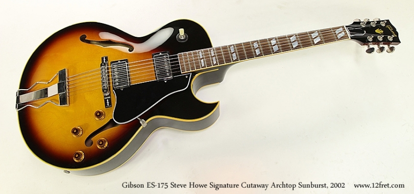 Gibson ES-175 Steve Howe Signature Cutaway Archtop Sunburst, 2002 Full Front View
