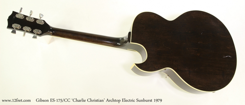Gibson ES-175/CC 'Charlie Christian' Archtop Electric Sunburst 1979  Full Rear View