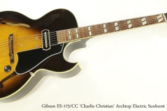 Gibson ES-175/CC 'Charlie Christian' Archtop Electric Sunburst 1979  Full Front View
