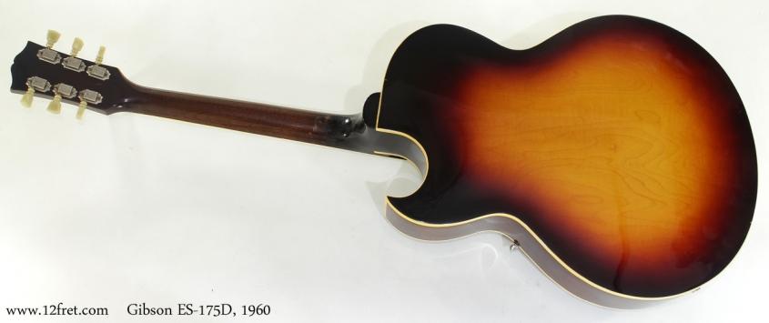 Gibson ES-175D 1960 full rear view