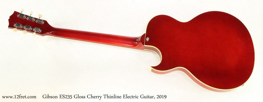 Gibson ES235 Gloss Cherry Thinline Electric Guitar, 2019  Full Rear View
