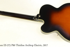 Gibson ES-275 P90 Thinline Archtop Electric, 2017 Full Rear View