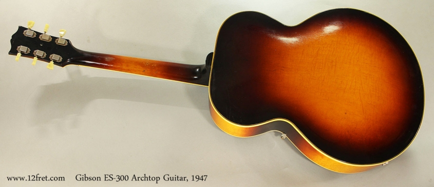 Gibson ES-300 Archtop Guitar, 1947 Full Rear View