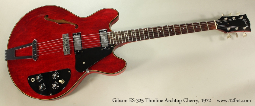 Gibson ES-325 Thinline Archtop Cherry, 1972 Full Front View