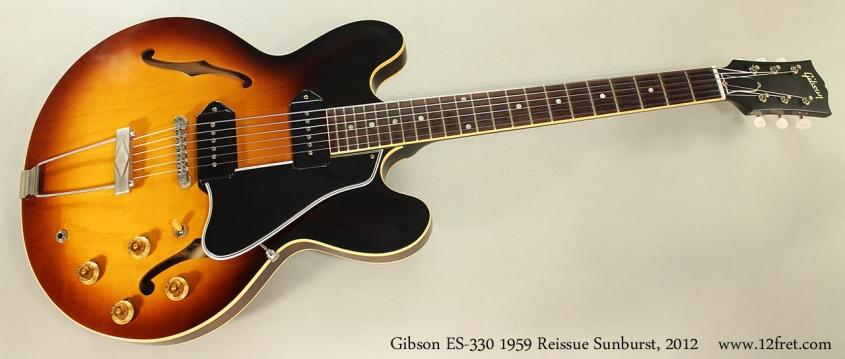 Gibson ES-330 1959 Reissue Sunburst, 2012 Full Front View