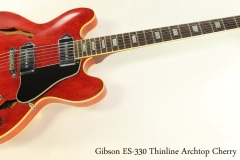 Gibson ES-330 Thinline Archtop Cherry 1969 Full Front View