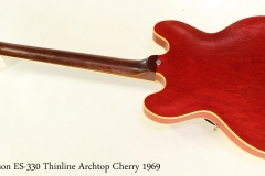 Gibson ES-330 Thinline Archtop Cherry 1969 Full Rear View