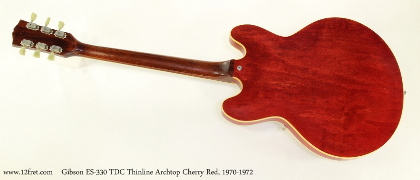 Gibson ES-330 TDC Thinline Archtop Cherry Red, 1970-1972  Full Rear View