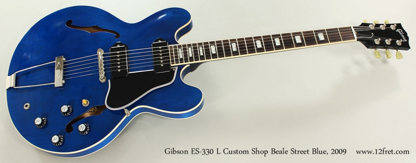 Gibson ES-330 L Custom Shop Beale Street Blue, 2009 Full Front View