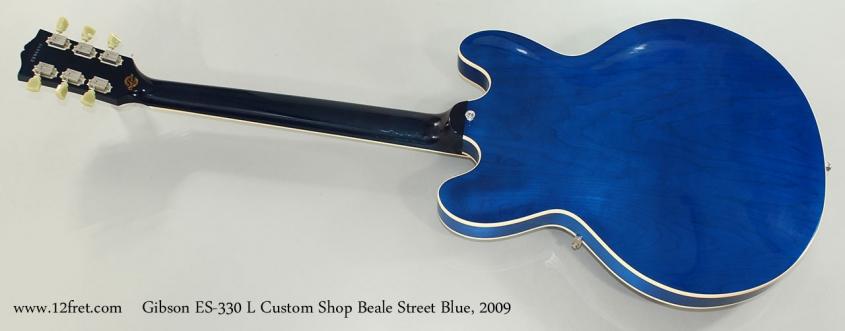 Gibson ES-330 L Custom Shop Beale Street Blue, 2009 Full Rear View