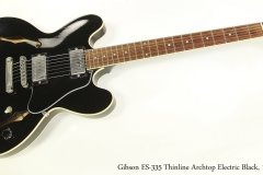 Gibson ES-335 Thinline Archtop Electric Black, 1988  Full Front View