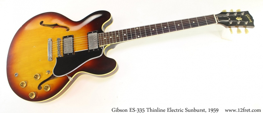 Gibson ES335 Thinline Electric Sunburst, 1959 Full Front View
