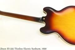 Gibson ES335 Thinline Electric Sunburst, 1959 Full Rear View