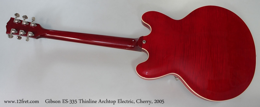 Gibson ES-335 Thinline Archtop Electric, Cherry, 2005 Full Rear View