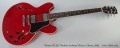 Gibson ES-335 Thinline Archtop Electric, Cherry, 2005 Full Front View