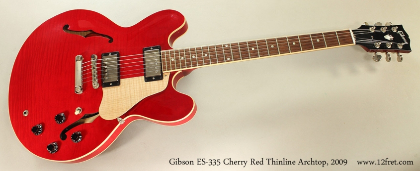 Gibson ES-335 Cherry Red Thinline Archtop, 2009 Full Front View