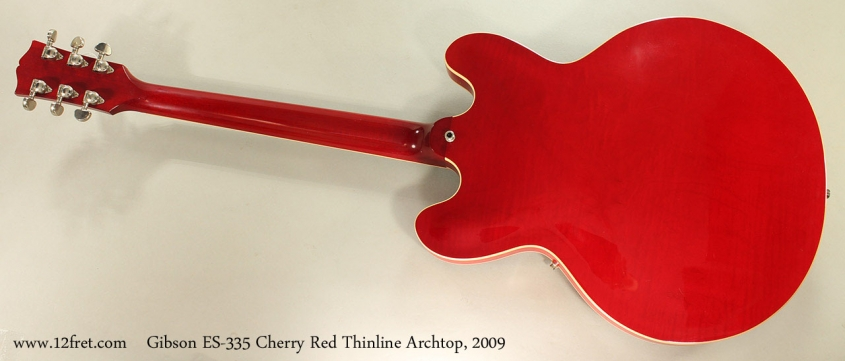 Gibson ES-335 Cherry Red Thinline Archtop, 2009 Full Rear View