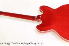 Gibson ES-335 Thinline Archtop Cherry 2012 Full Rear View