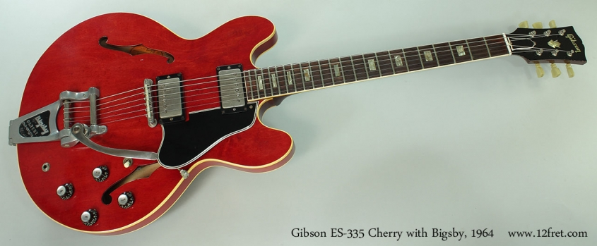 Gibson ES-335 Cherry with Bigsby, 1964 Full Front View