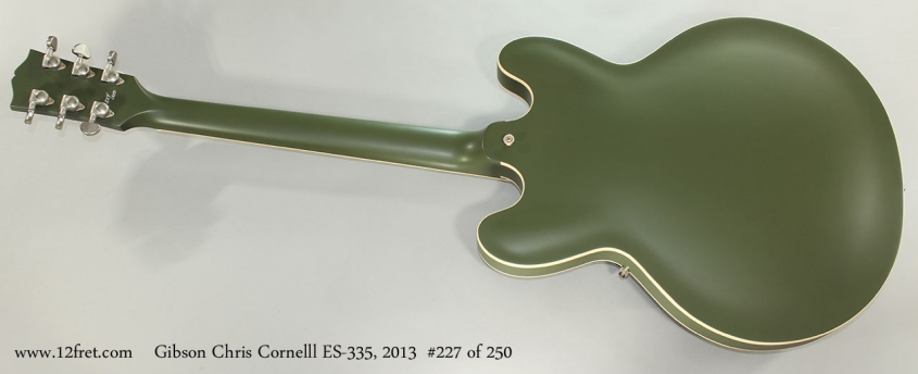 Gibson Chris Cornelll ES-335, 2013 #227 of 250 Full Rear View