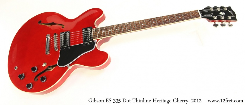 Gibson ES-335 Dot Thinline Heritage Cherry, 2012 Full Front View
