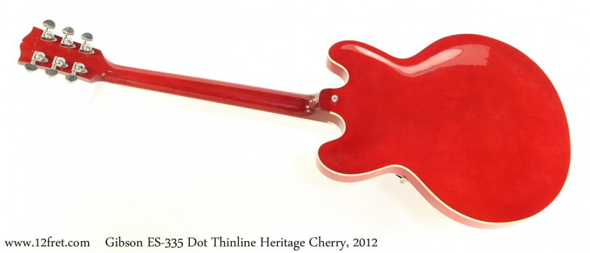 Gibson ES-335 Dot Thinline Heritage Cherry, 2012 Full Rear View