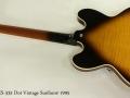 Gibson ES-335 Dot Vintage Sunburst 1995 full rear view