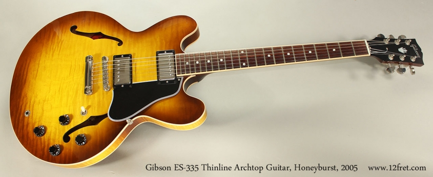 Gibson ES-335 Thinline Archtop Guitar, Honeyburst, 2005 Full Front View