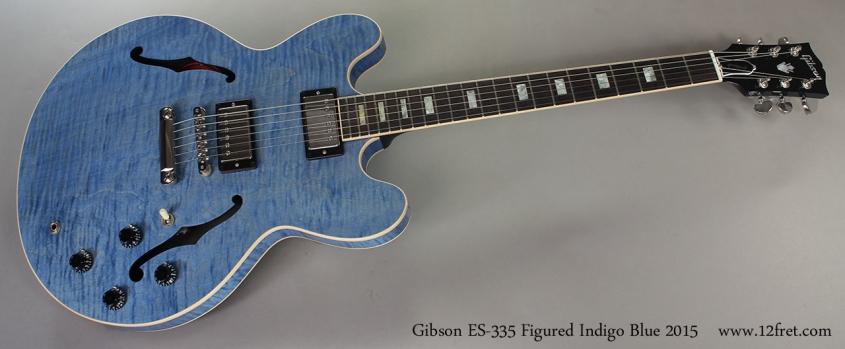 Gibson ES-335 Figured Indigo Blue 2015 Full Front View