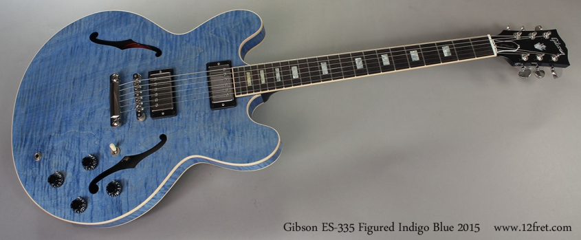 Gibson ES-335 Figured Indigo Blue 2015 Full Front View