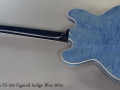 Gibson ES-335 Figured Indigo Blue 2015 Full Rear View