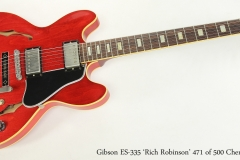 Gibson ES-335 'Rich Robinson' 471 of 500 Cherry, 2014  Full Front View