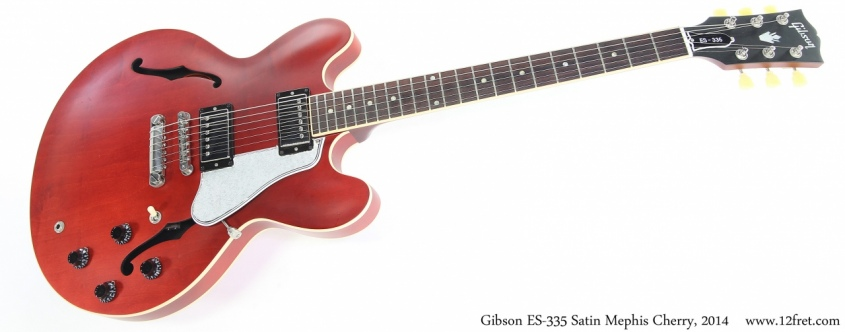 Gibson ES-335 Satin Mephis Cherry, 2014 Full Front View