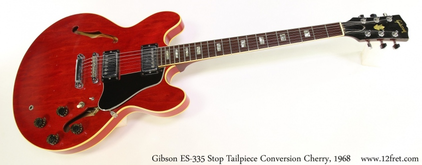 Gibson ES-335 Stop Tailpiece Conversion Cherry, 1968 Full Front View