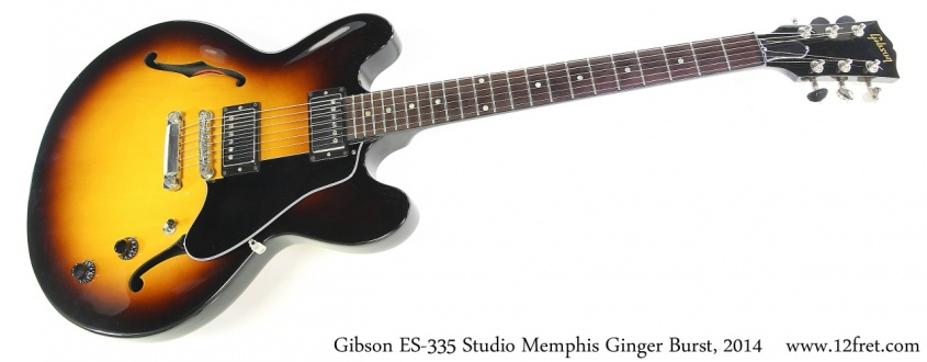 Gibson ES-335 Studio Memphis Ginger Burst, 2014 Full Front View