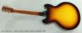 Gibson ES-335 Thinline Tobacco Sunburst, 2009 Full Rear View