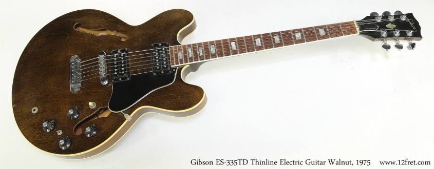 Gibson ES-335TD Thinline Electric Guitar Walnut, 1975   Full Front VIew