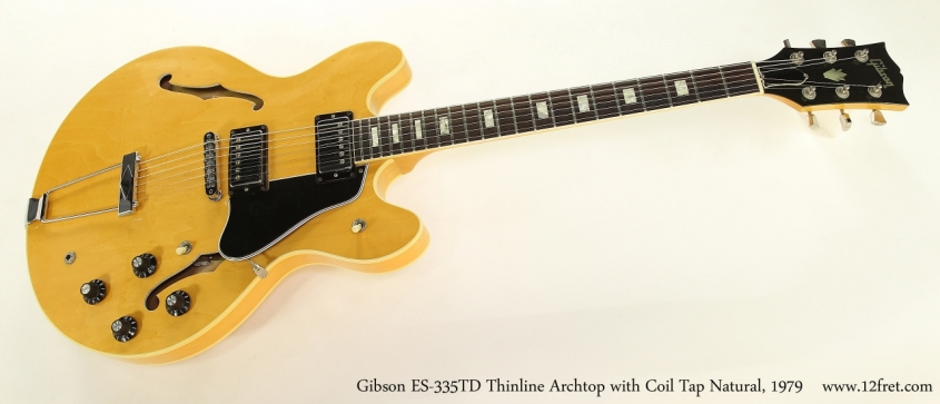 Gibson ES-335TD Thinline Archtop with Coil Tap Natural, 1979  Full Front View