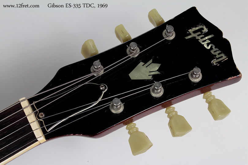Gibson ES-335 TDC 1969 head front view