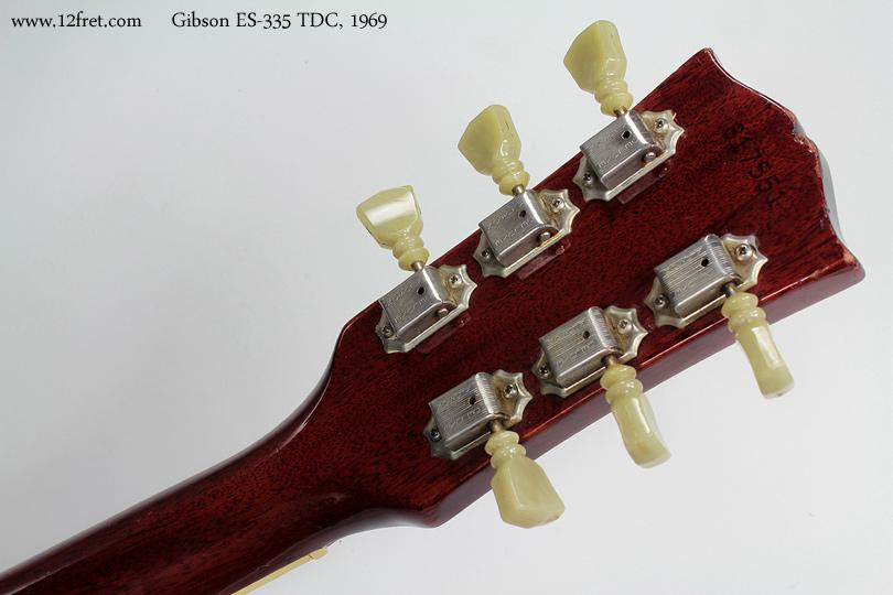 Gibson ES-335 TDC 1969 head rear view