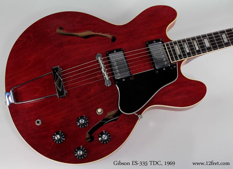 Gibson ES-335 TDC 1969 top