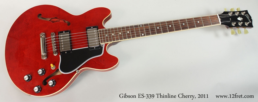 Gibson ES-339 Thinline Cherry, 2011 Full Front View