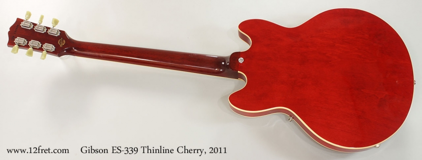 Gibson ES-339 Thinline Cherry, 2011 Full Rear View
