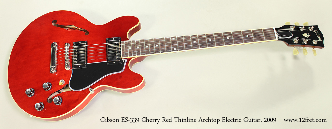 Gibson ES-339 Cherry Red Thinline Archtop Electric Guitar, 2009 Full Front View