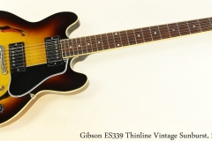 Gibson ES339 Thinline Vintage Sunburst, 2011 Full Front View