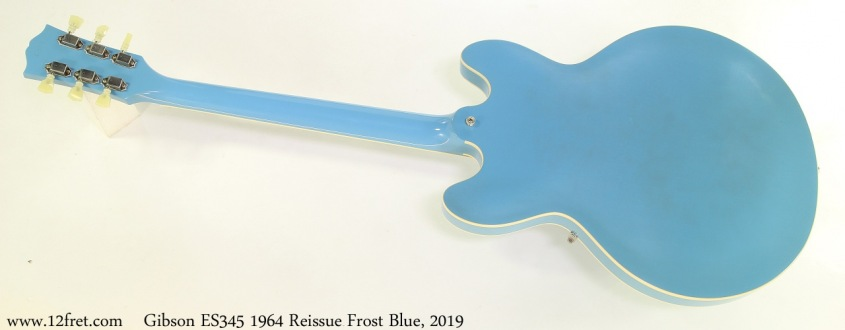 Gibson ES345 1964 Reissue Frost Blue, 2019 Full Rear View