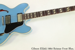 Gibson ES345 1964 Reissue Frost Blue, 2019 Full Front View