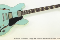 Gibson Memphis ES345 64 Reissue Sea Foam Green, 2016 Full Front View
