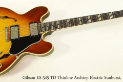 Gibson ES-345 TD Thinline Archtop Electric Sunburst, 1966    Full Front View